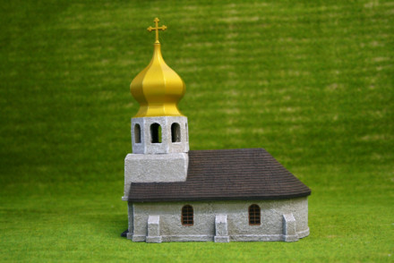 Flames of War RURAL RUSSIAN CHURCH painted tabletop terrain 15mm BB139