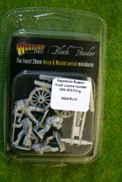 Warlord Games NAPOLEONIC RUSSIAN 10 PDR Licorne Howitzer firing 28mm