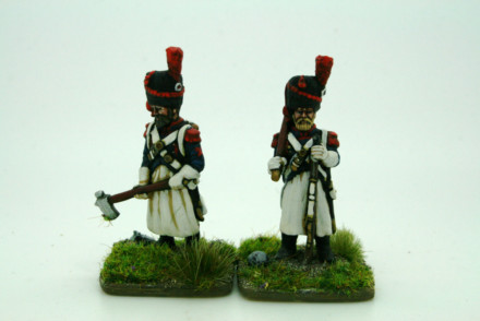 Trent Miniatures FRENCH SAPEURS pack of 2 28mm FLi12