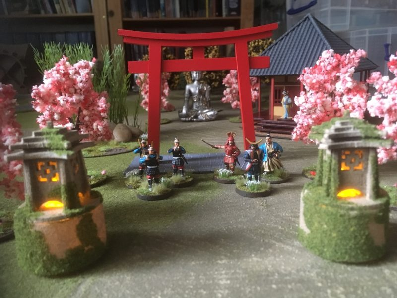 Lanterns on the gaming table