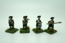 Trent Miniatures HIGHLAND FENCIBLES COMMAND Pack of 4 Figures  Ir98/27