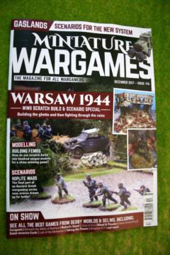 MINIATURE WARGAMES ISSUE 416 DECEMBER 2017 MAGAZINE
