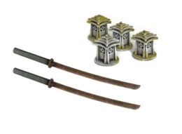 Japan Test of Honor Lantern & Ruler Set 28mm Laser cut MDF scale Building B029