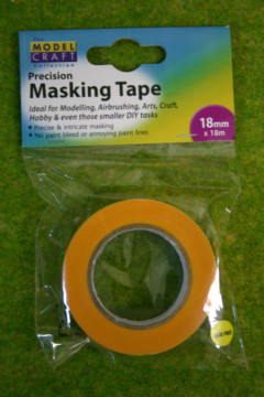 Precision MASKING TAPE 18mm wide x 18m long pack Expo 44518