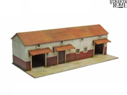 Streets of Rome WORKSHOP BLOCK 28mm Laser cut MDF scale Building T001