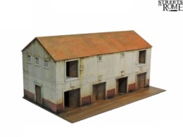 Streets of Rome WAREHOUSE BLOCK 28mm Laser cut MDF scale Building T002