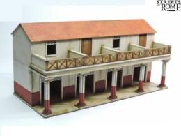 Streets of Rome UPPER RANK SHOPS 28mm Laser cut MDF scale Building T009