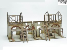 Streets of Rome UNDER CONSTRUCTION SET 28mm Laser cut MDF scale Building T016