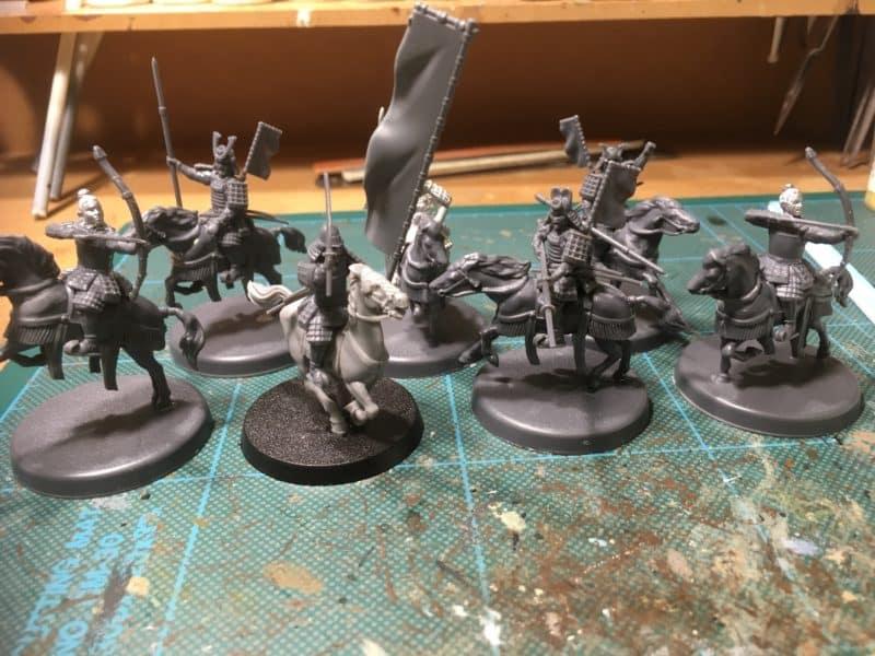 Mounted Samurai set assembled