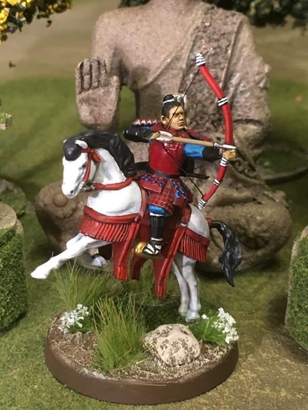 Samurai Archer on rearing horse