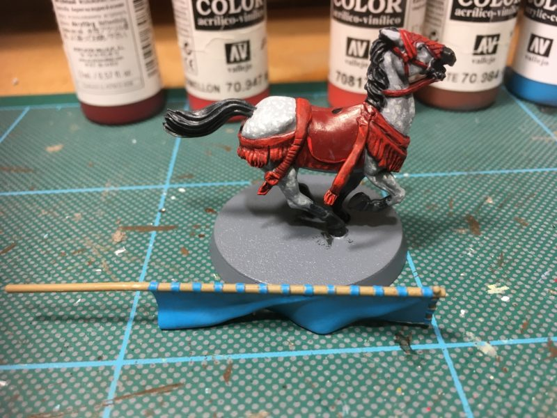 The final horse in progress.
