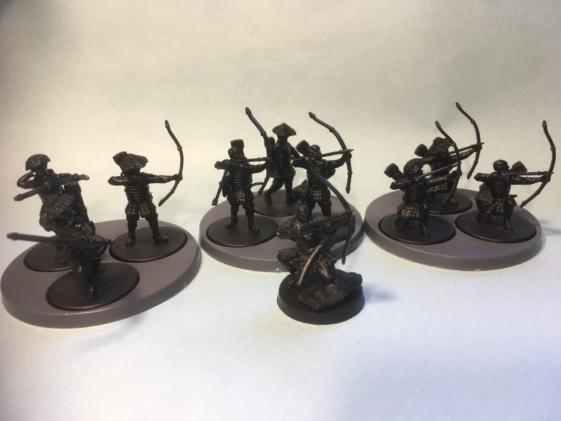 Pauper soldiers, primed and ready for painting.