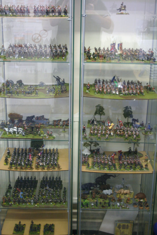 My collection features at least eight different manufacturers -it's difficult to see them at this distance.