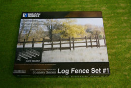 Rubicon Models Log Fence Set #1 RU-283001