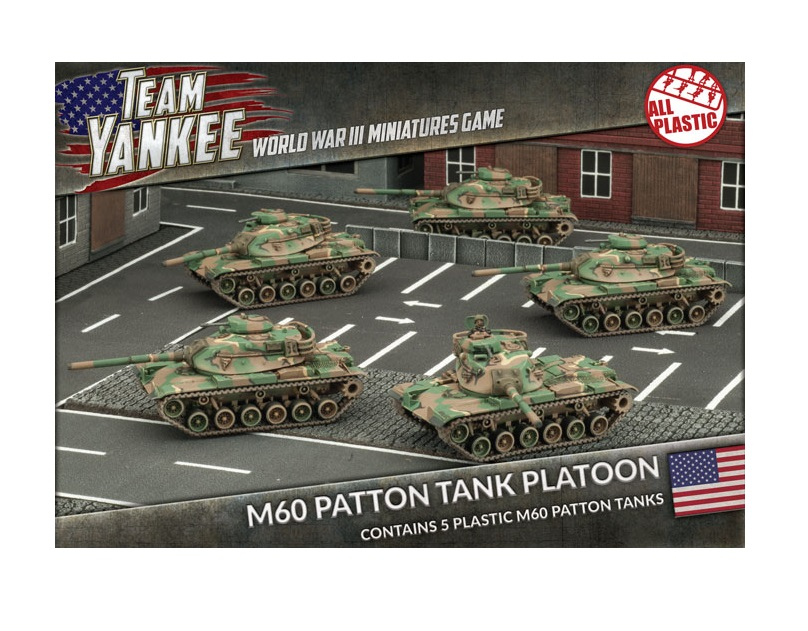 56bf59da5e50 M60 PATTON TANK PLATOON Flames of War 15mm TUBX11