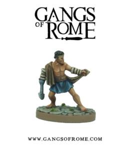 Gangs of Rome Fighter Tertius War Banner Footsore Miniatures WBGOR003