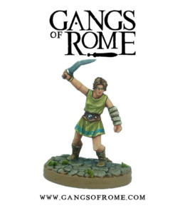 Gangs of Rome Fighter Sextus War Banner Footsore Miniatures WBGOR006
