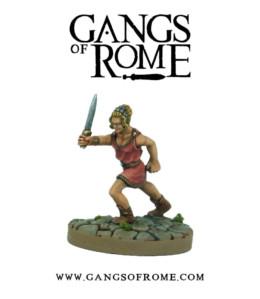 Gangs of Rome Fighter Decimus War Banner Footsore Miniatures WBGOR010