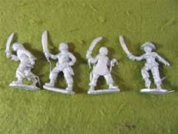 Victorious Miniatures Chinese Boxers w/ Sword  pack A BOXINF03