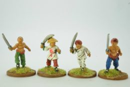 Victorious Miniatures Chinese Boxer Swordsmen Pack B BOXINF04