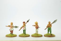 Victorious Miniatures Chinese Boxers Open hands w/ Polearms pack A BOXINF06