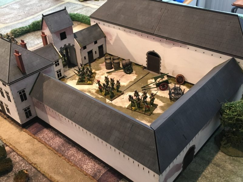 2nd Nassau were deployed inside the farmhouse - hold at all costs!