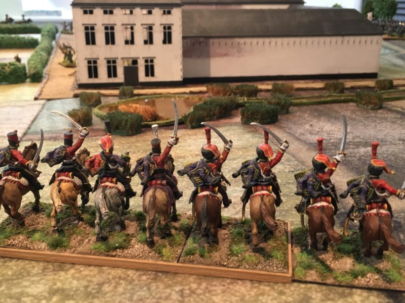 French cavalry scout the battlefield
