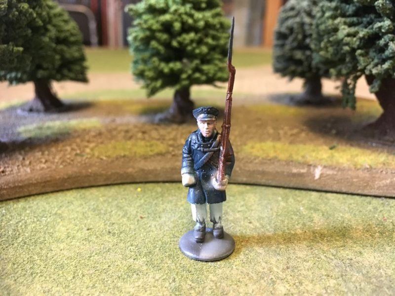 Close up of Prussian Landwehr