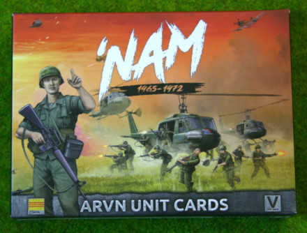 NAM ARVN FORCES IN VIETNAM UNIT CARDS  15mm VAR901