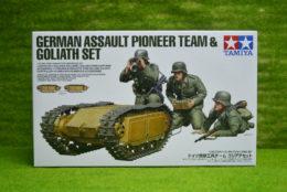 Tamiya German Assault Pioneer Team and Goliath 1/35 Scale Kit 35357