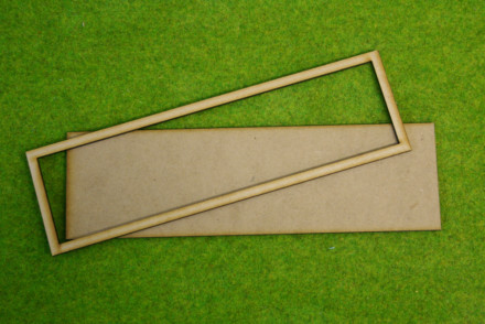 MDF laser cut MOVEMENT TRAY for (8×1) Cavalry Bases or (8×2) 25mm infantry 200mm x 50mm