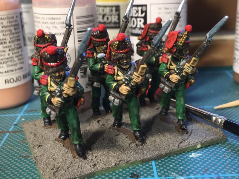 Nassau Grenadiers - quick shade applied