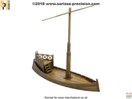 Streets of Rome Trade Ship 28mm Laser cut MDF scale Building T041