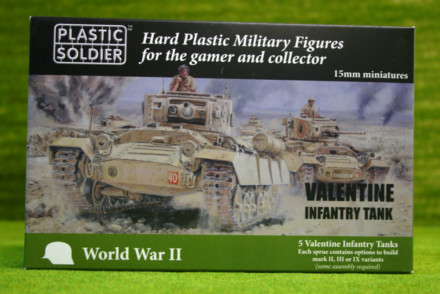 Plastic Soldier WW2 VALENTINE INFANTRY TANK 15mm