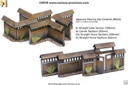 Japan Village Fence set 28mm – SAMURAI / JAPANESE 28mm Laser cut MDF scale Building B026
