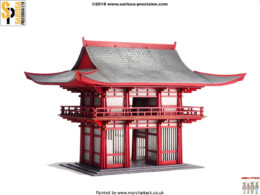 Japan TEMPLE GATE (big) SAMURAI/ JAPANESE 28mm Laser cut MDF scale Building B033