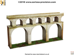 Streets of Rome AQUADUCT 28mm Laser cut MDF scale Building T025