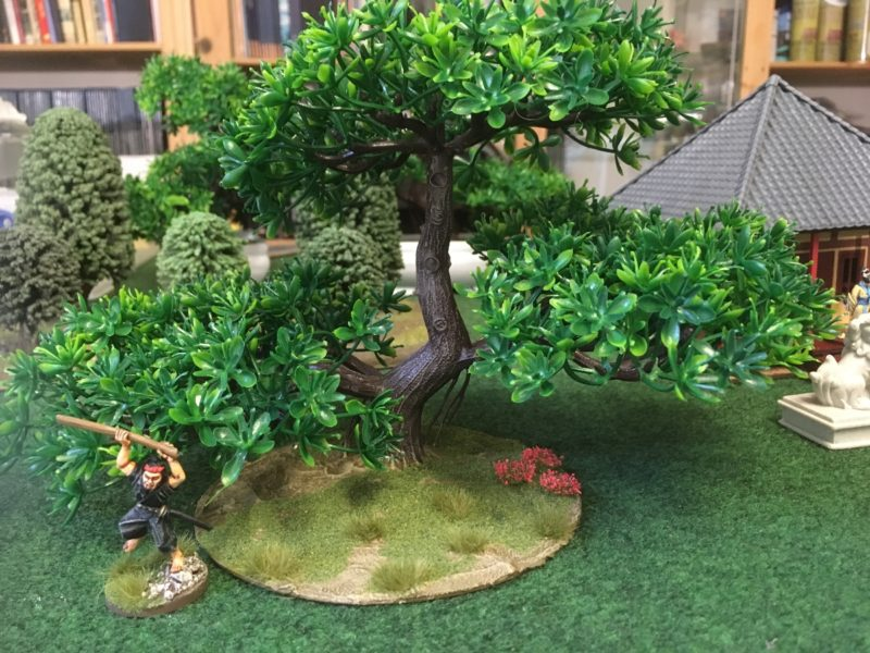 The completed bonzai tree based and ready for the table.