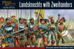 Landsknechts with Zweihanders Warlord Games Pike & Shotte 28mm