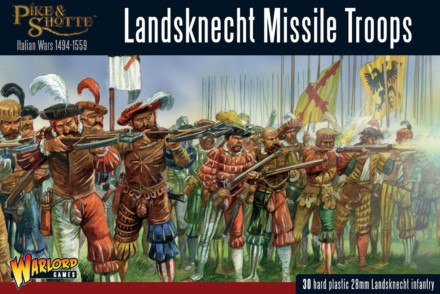 LANDSKNECHT MISSILE TROOPS Warlord Games Pike & Shotte 28mm SD
