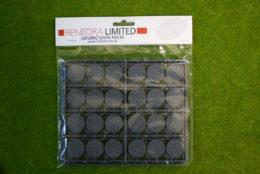 RENEDRA COBBLESTONE EFFECT 25mm Dia. ROUND BASES Pack
