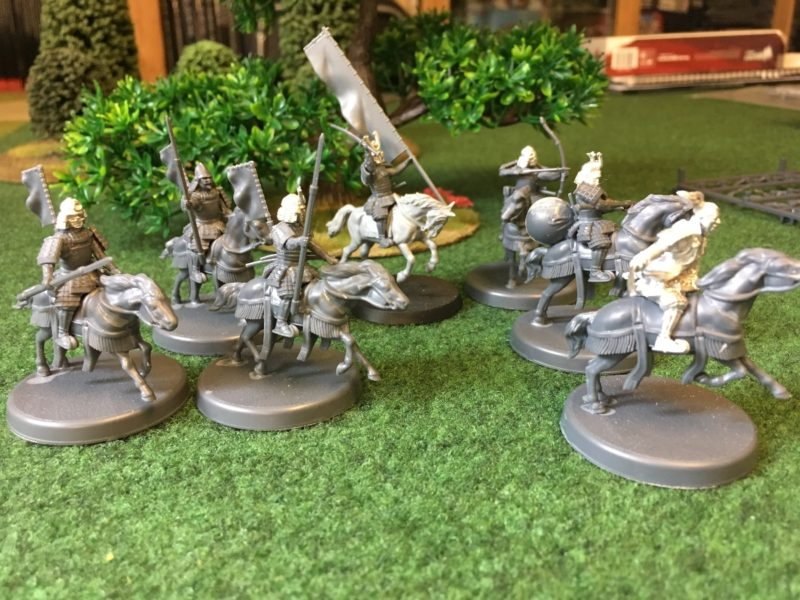 Daimyo's retinue ready for priming.