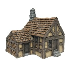 Single Storey Timber Framed Townhouse Battle Scale 10mm-15mm scale 10B005