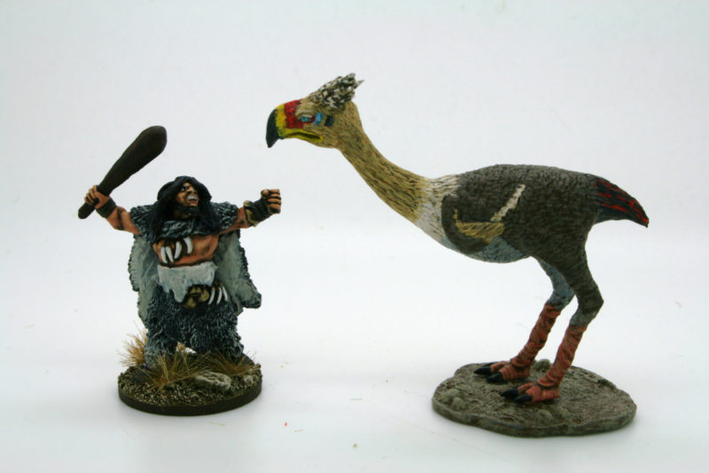 Terror bird and Neanderthal