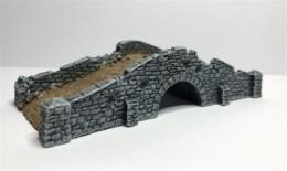 BATTLE DAMAGED STONE BRIDGE -Battle Scale Wargames Buildings 10mm – 15mm scale 10S007