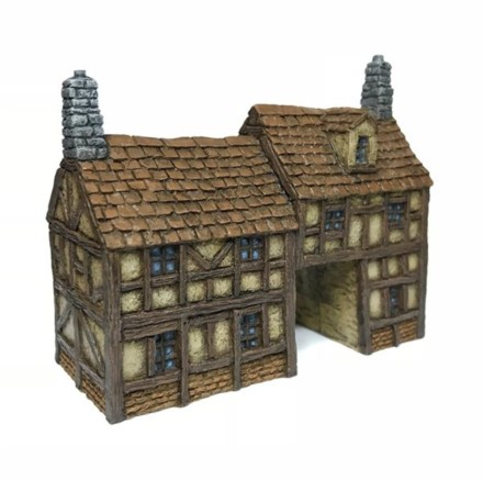 Timber Framed Gatehouse -Battle Scale Wargames Buildings 10mm – 15mm scale 10B022