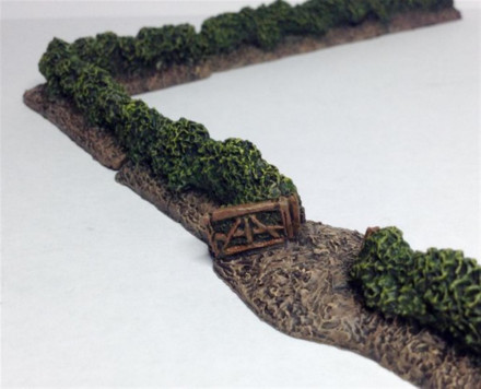 Hedgerow Set 18 pieces -Battle Scale Wargames Buildings 10mm – 15mm scale