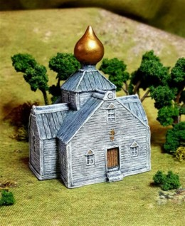 Russian Timber Church-Battle Scale Wargames Buildings 10mm – 15mm scale 10B014