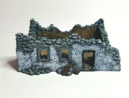 Single Storey Ruin -Battle Scale Wargames Buildings 10mm – 15mm scale 10B020