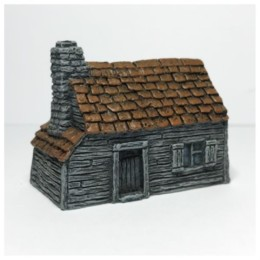 Tiled Timber-clad Cottage-Battle Scale Wargames Buildings 10mm – 15mm scale 10B002
